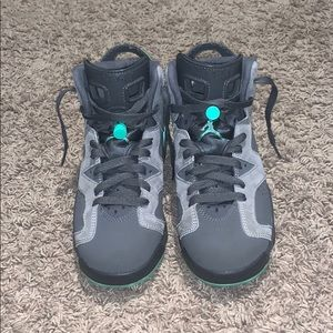 Air Jordan 6 GS Grey Green Glow